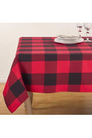 Saro Lifestyle Buffalo Plaid Cotton 84 inch Tablecloth