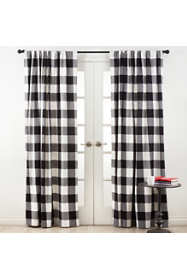 Saro Lifestyle Buffalo Plaid 54 x 84 Cotton Curtains
