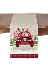 Saro Lifestyle Christmas Car Table Runner