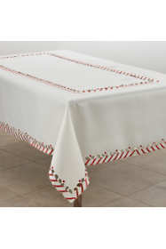 Saro Lifestyle Christmas Candy Cane Stripe 65 x 120 Tablecloth