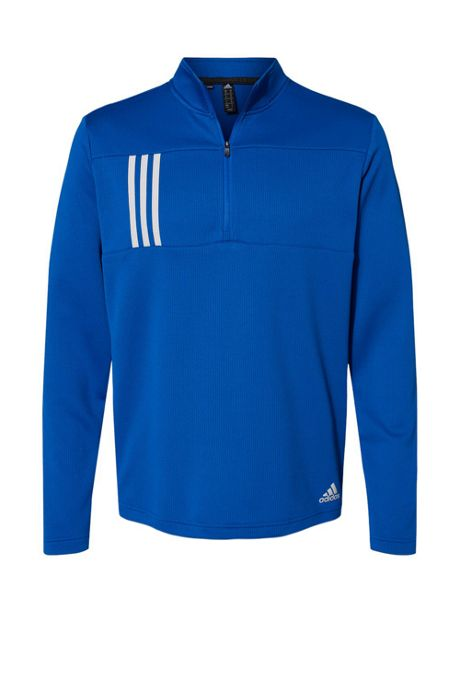 adidas Men's Regular 3 Stripes Quarter Zip Pullover
