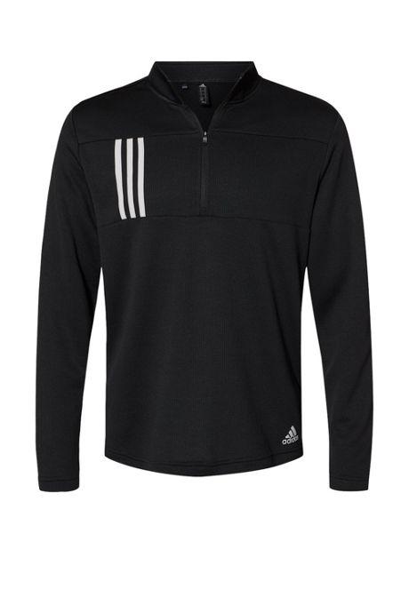 adidas Men's Big 3 Stripes Quarter Zip Pullover