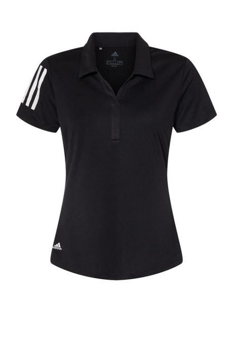 adidas Women's Plus Floating 3 Stripes Polo Shirt