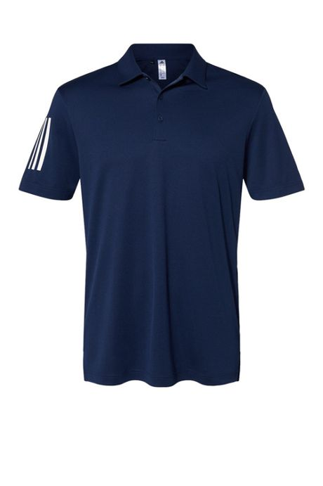 adidas Men's Regular Floating 3 Stripes Polo Shirt