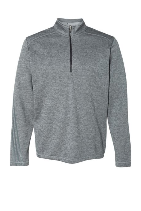 adidas Men's Regular Heathered Quarter Zip Pullover