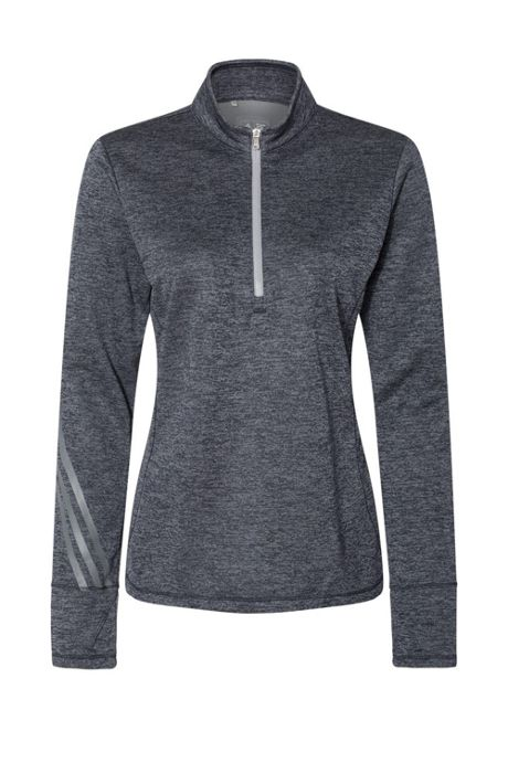 adidas Women's Regular Heathered Quarter Zip Pullover