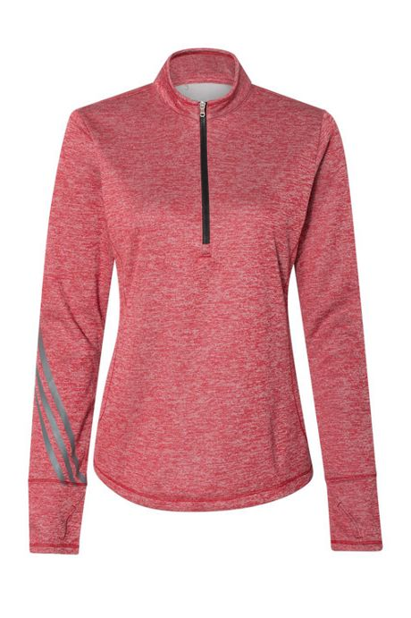 adidas Women's Plus Heathered Quarter Zip Pullover