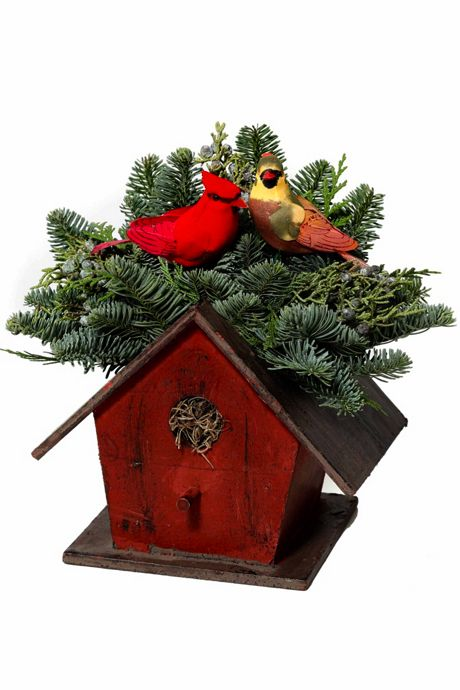 Teufel Fresh Birdhouse Christmas Centerpiece