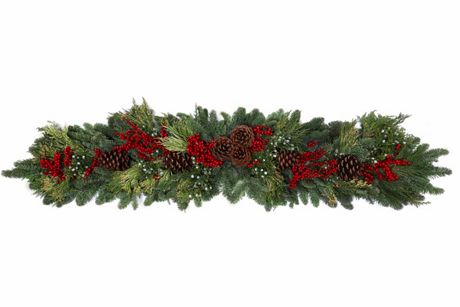 Teufel Fresh Canella Berry Christmas Mantle Swag