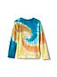 T-Shirt Tie Dye en Coton à Manches Longues, Enfant