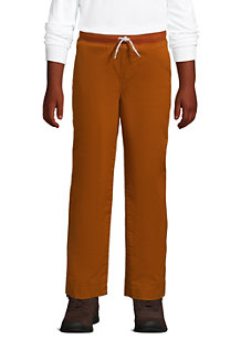 Boys' Iron Knee Lined Pull-On Cotton Trousers