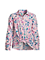 Girls' Tie Front Flannel Shirt