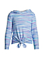 Hoodie Cozy Stretch Ourlet Noué, Fille