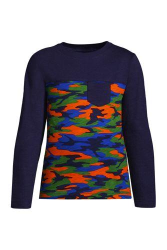 Langarm-Shirt aus Slub-Jersey für Kinder