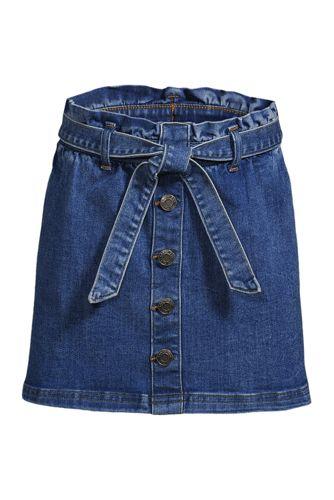 Girls' Paperbag Denim Skirt