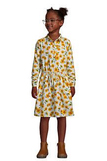 Girls' Long Sleeve Flannel Dress