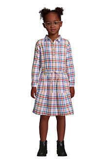 Flanell-Blusenkleid für Mädchen