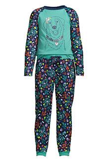 Gemustertes Pyjama-Set aus French Terry für Mädchen