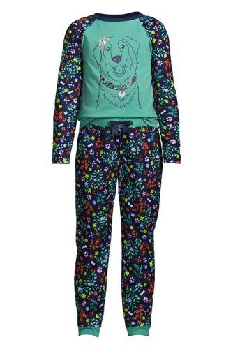 Pyjama Graphique 2 Pièces à Manches Longues, Fille