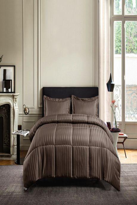 Kathy Ireland Microfiber Damask Stripe Comforter Set