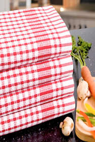 Poyet Motte Oversized Cotton Kitchen Towels - Set of 4