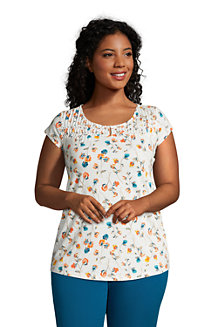 Women's Cap Sleeve Slub Jersey Tunic