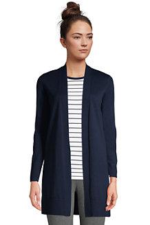 Langer Offener Baumwoll-Cardigan für Damen
