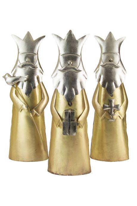 Kalalou Three Kings Christmas Decoration - Set of 3
