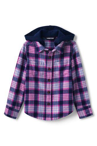 Flanellhemd mit Kapuze für Kinder