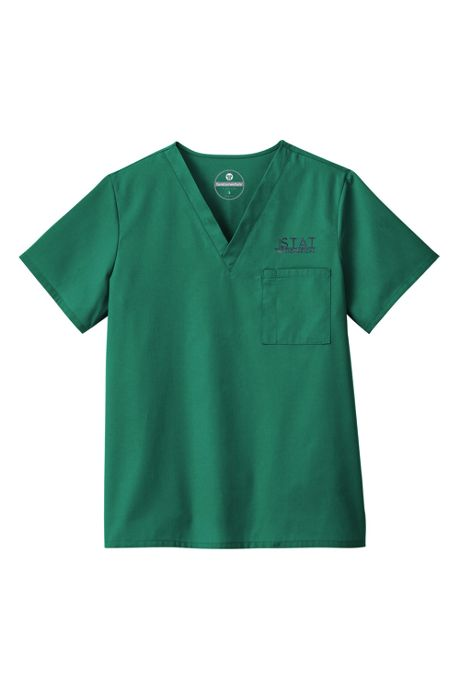 White Swan Fundamentals Unisex Extra Big Plus Size Scrubs Uniform V-neck Top 1 Pocket