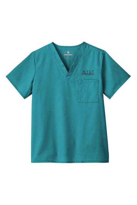 White Swan Fundamentals Unisex Regular Scrubs Uniform V-neck Top 1 Pocket