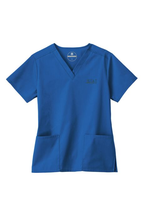 White Swan Fundamentals Women's Regular Scrubs V-neck Top 2 Pocket