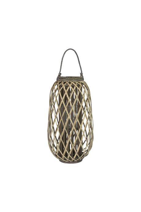Kalalou Grey Willow Glass Lantern