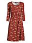 Women's Petite Three-quarter Sleeve Twist Front Dress