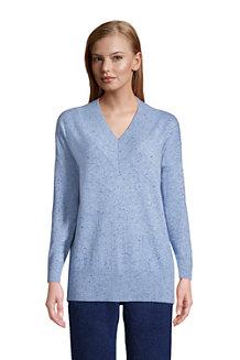 Women's Cashmere V-neck Tunic Jumper
