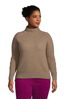 Relaxter Stehkragen-Pullover aus Kaschmir für Damen