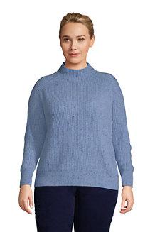 Women's Cashmere Rib Funnel Neck Sweater