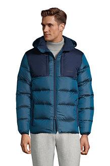 Men's Hooded Wide Channel Down Puffer Jacket