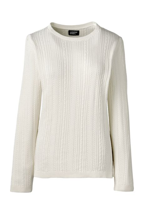 Women's Cotton Modal Long Sleeve Textured Stitch Pullover Sweater
