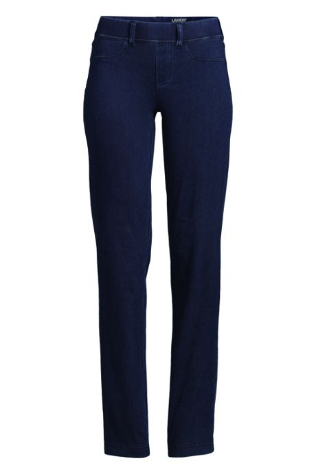 Women's Starfish Elastic Waist Knit Jeans Mid Rise