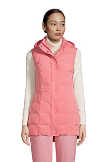 Women's Hooded Down Gilet with Stretch