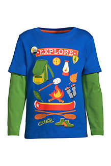Boys' Double Layer Graphic Tee