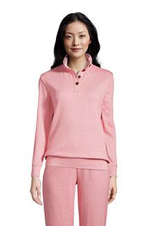 Pullover SPORT KNIT mit Druckknopf-Kragen für Damen
