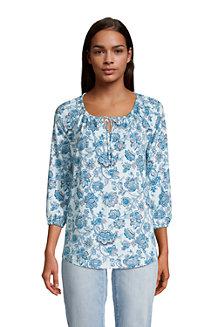 Women's Cotton Modal Three Quarter Sleeve Tunic