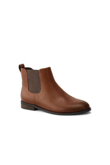 Women's Side Zip Flat Chelsea Boots