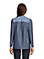 Women's Long Sleeve Chambray Popover Top