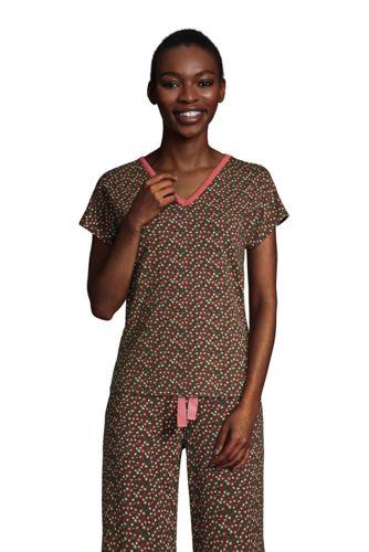 Schlafshirt mit V-Ausschnitt und Dolman-Ärmeln für Damen in Petite-Größe