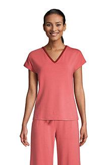 Schlafshirt mit V-Ausschnitt und Dolman-Ärmeln für Damen