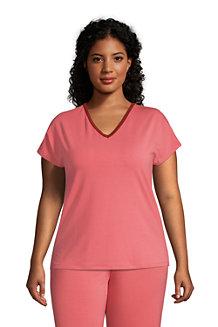 Women's Brushed Jersey Loungewear Pyjama T-shirt