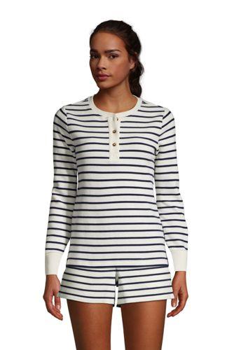 Women's Waffle Henley Pyjama Top